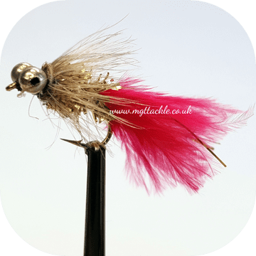 GOLD HUMUNGUS RED TAIL SIZE BEAD CHAIN SHORT SHANK LURE