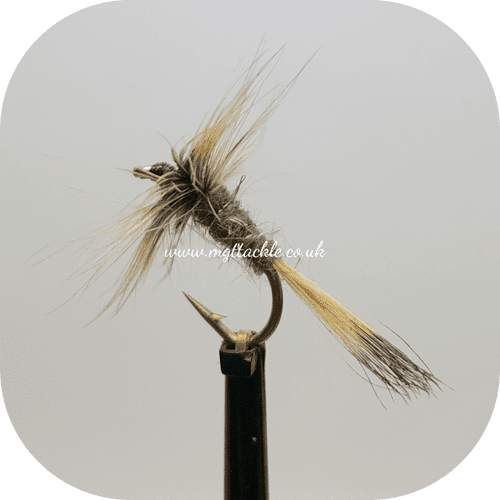 GREY DUSTER WITH TAIL DRY FLY