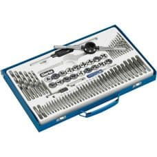 76 Piece Tap and die set from Clarke. Plug and Taper taps.