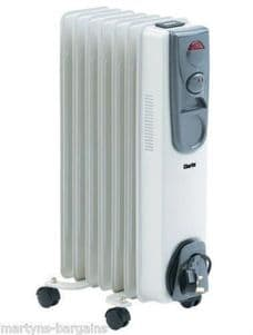 Clarke 1.5kW Oil Filled Radiator OFR7/150 - Ideal Heater for Homes or Offices
