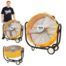 """Clarke 110 Volt 30"""" Drum Fan. Trade and commerical. Drum Fan."""