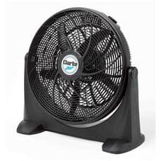 """Clarke 20"""" Black Box Fan. High Velocity Air Flow for Domestic or Office Use."""