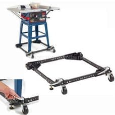 Clarke Universal Mobile Base for a convenient method of moving heavy machinery.