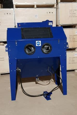 Large Foot Operated Sand Blast Cabinet with Built in Dust Extractor.