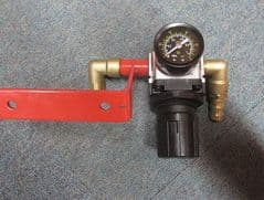 Replacement Air Regulator with Bracket, Gauge and Adapters. Sand Blast Regulator