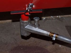 Sand Blast Cabinet Media Flow Valve with Fitted Hatch for Base of Grit Blasting