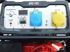 Senci SC8000-II Petrol Generator 7kw With Electric Start with wheels