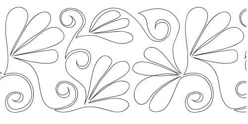 """Curlz n Feathers 10"""" Pantograph 12' Roll"""