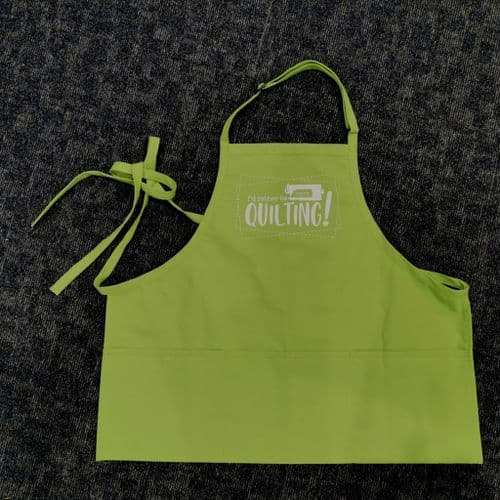 I'd Rather Be Quilting Green Apron