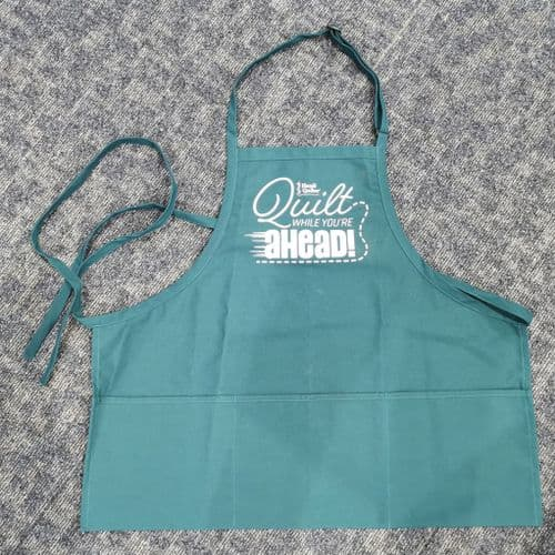 Quilt While You're Ahead Teal Apron