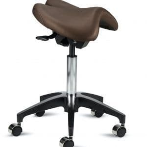 The Flyford Saddle Stool for Quilting or Sewing with Foot Ring