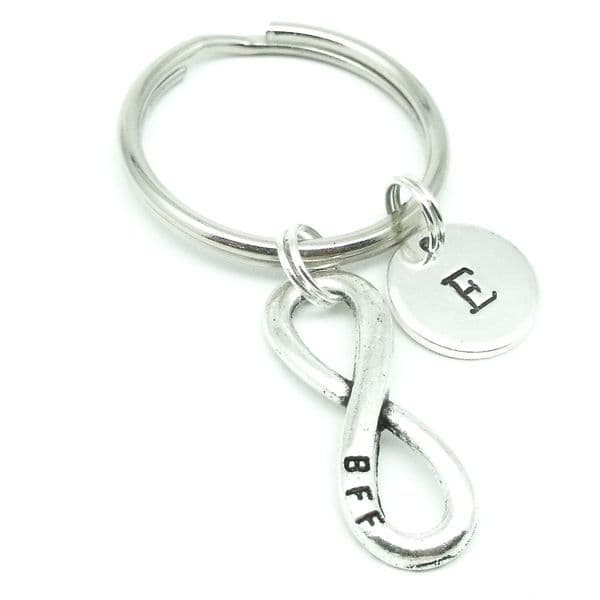 BBF best friends infinity gift keyring personalised