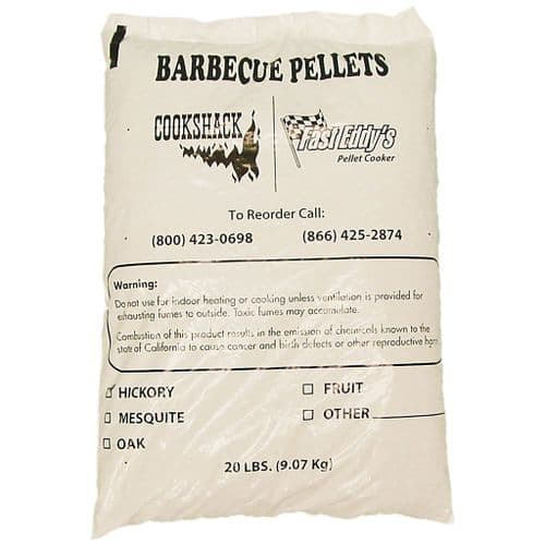 Cookshack/Fast Eddy's HICKORY BBQ Pellets (60lbs/27.2kg in 3 bags)