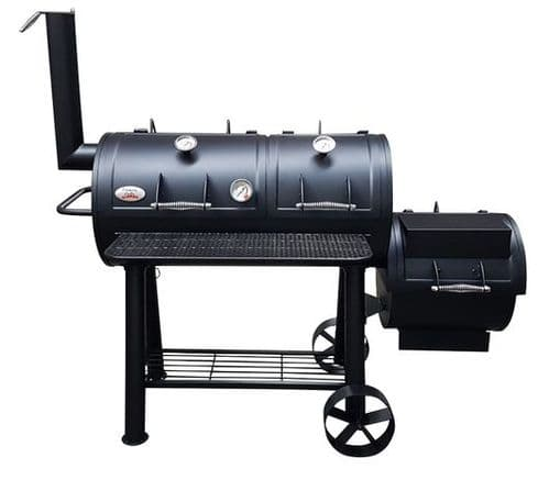 Flaming Coals Offset Smoker