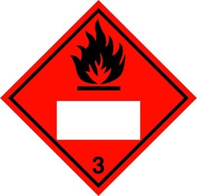 CN3PL   Placard/Container Label300mm x 300mm Class 3 Flammable Liquid 3