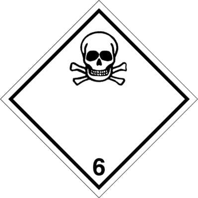CN6.1L  Toxic 6.1 Placard/Container Label 300mm x 300mm Class 6