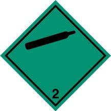 Code CN2.2  Placard/Container Label 250mm x 250mm Class 2 Non-Flammable Gas 2.2