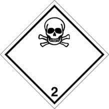 Code CN2.3   Placard/Container Label 250mm x 250mm Class 2 Toxic Gas 2.3