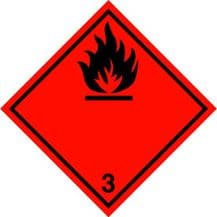 Code CN3   Placard/Container Label 250mm x 250mm Class 3 Flammable Liquid 3