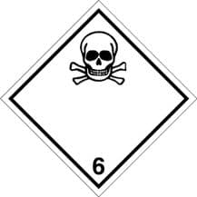 Code CN6.1   Placard/Container Label 250mm x 250mm Class 6 Toxic 6.1