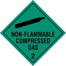 Code CT2.2   Placard/Container Label 250mm x 250mm Class 2 Non-Flammable Gas 2.2