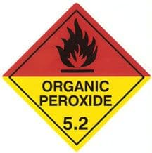 Code CT5.2   Placard/Container Label 250mm x 250mm Class 5 Oxidizer 5.2