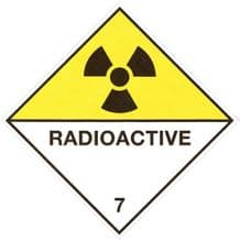 Code CT7.0   Placard/Container Label 250mm x 250mm Class 7 Radioactive 7.0
