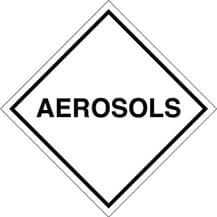 Code CTAL    Placard/Container Label 300mm x 300mm Aerosols