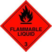 CT3L  Flammable Liquid 3 Placard/Container Label 300mm x 300mm Class 3