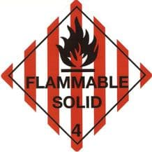 Flammable Solid Placard/Container Label  4.1  Class 4 300mm x 300mm
