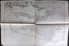Admiralty Chart 1940 Map. Southern Approach to Kherson Bay, Black Sea