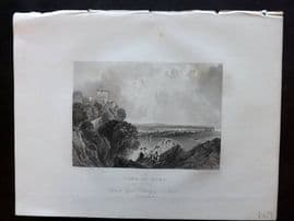After Allen 1834 Antique Print. Lake of Nemi, Italy