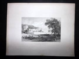 After Allom 1846 Antique Print. Chatsworth, Dersbyshire