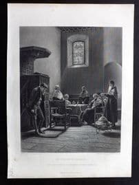 After Burgess C1870 Art Journal Print. The Student in Disgrace