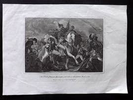 After Burney 1828 Print. Death of General Abercrombie. Battle of Alexandria