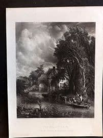 After Constable C1860 Art Journal Print. The Valley Farm