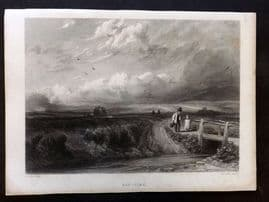 After Cox C1860 Art Journal Print. Hay-Time