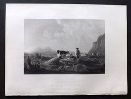 After Cuye 1846 Folio Antique Print. A Sunny Day