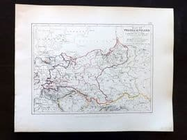 Alison & Johnston 1852 Battle Map of Prussia & Poland, Campaigns of 1806 etc