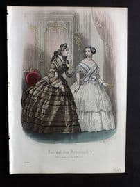 Journal des Demoiselles C1850 Antique Hand Col Fashion Print 03