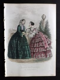 Journal des Demoiselles C1850 Antique Hand Col Fashion Print 05
