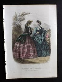 Journal des Demoiselles C1850 Antique Hand Col Fashion Print 06