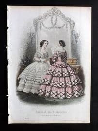 Journal des Demoiselles C1850 Antique Hand Col Fashion Print 08