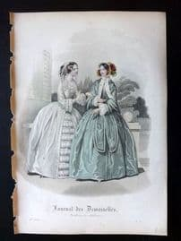 Journal des Demoiselles C1850 Antique Hand Col Fashion Print 101