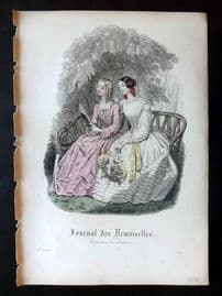 Journal des Demoiselles C1850 Antique Hand Col Fashion Print 102