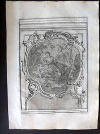 Vignola 1738 Architectural Print. Fireplace/Chimney design in Gallery 59C