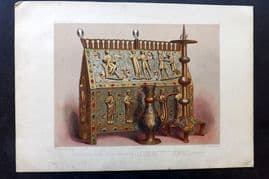 Waring 1858 Folio Print. Limoges Enamel of the 12th or 13th Century 08