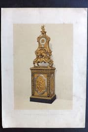Waring 1858 Print. Moulo Clock, Property of His Grace The Duke of Buccleuch 13