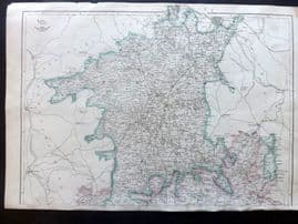 Weekly Dispatch C1860 Antique Map. Worcestershire & Gloucestershire, North Sheet