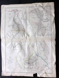 Weller Weekly Dispatch C1860 Large Map. Egypt, Nubia, Abyssinia and the Red Sea